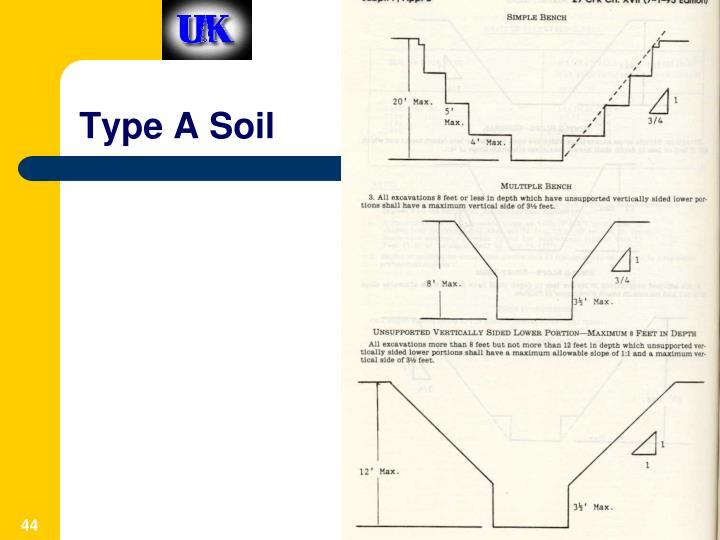 Type A Soil