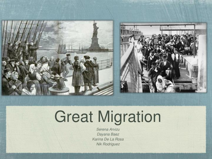 great migration n.
