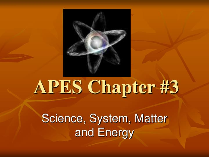 Apes chapter 3