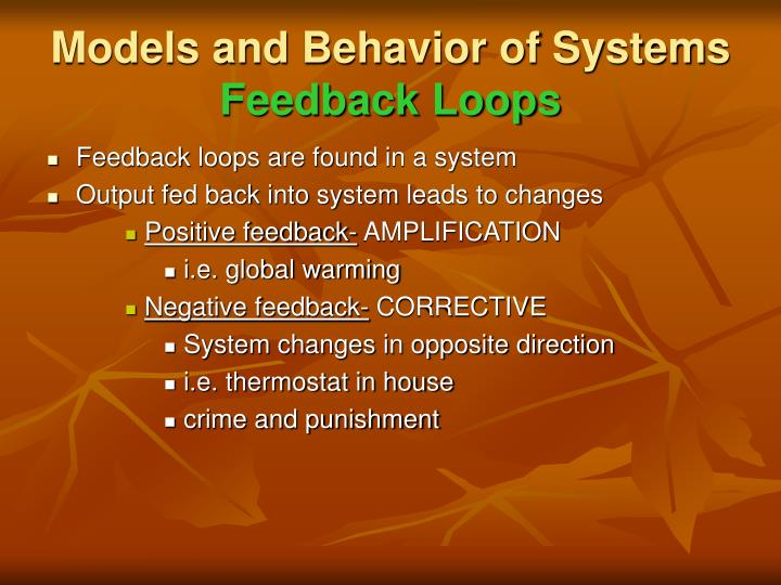 Models and Behavior of Systems