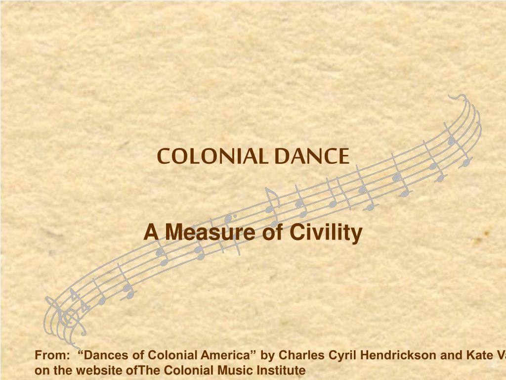 colonial dance music