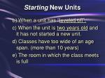 starting new units22