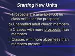 starting new units23