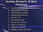 sunday school s 10 best practices