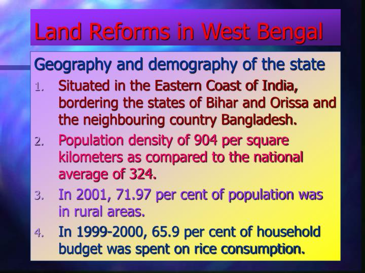 land reforms in west bengal n.