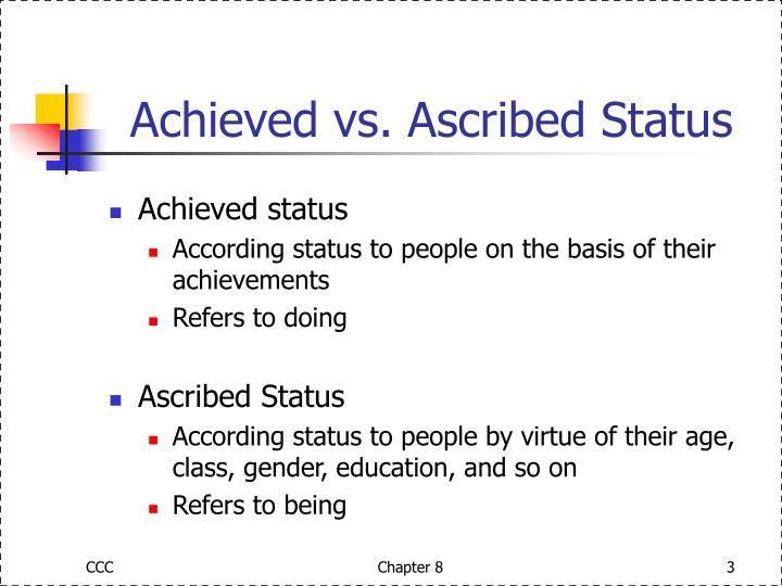 ascribed achieved status