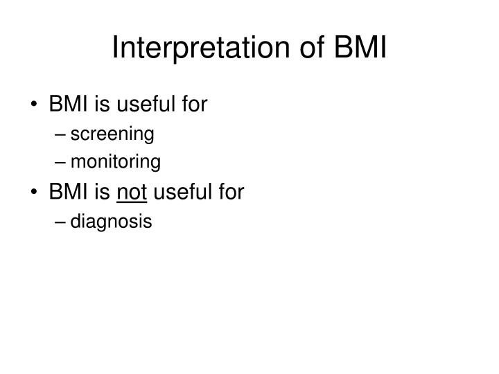 Interpretation of BMI