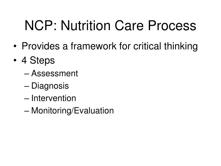 NCP: Nutrition Care Process
