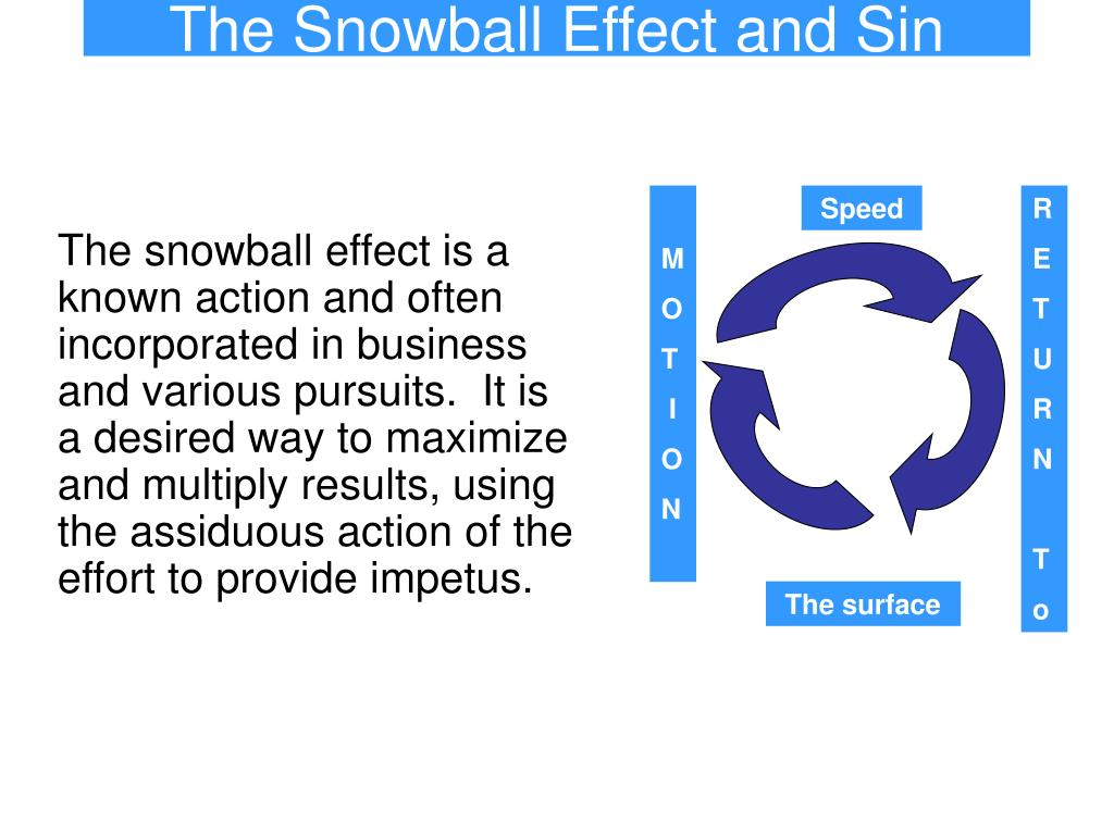 the snowball effect and sin l.