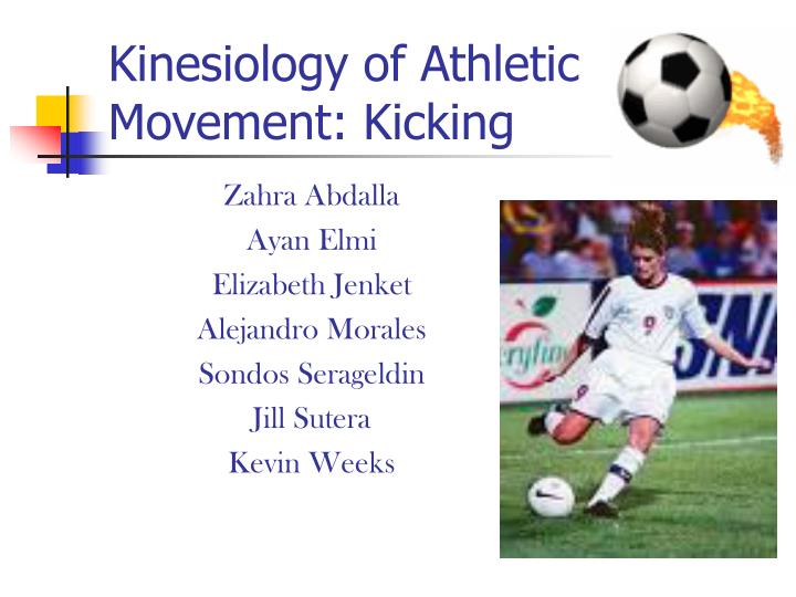 kinesiology of athletic movement kicking n.