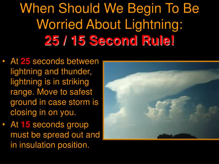 When Should We Begin To Be Worried About Lightning: