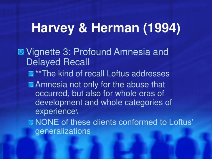 Harvey & Herman (1994)