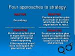 four approaches to strategy