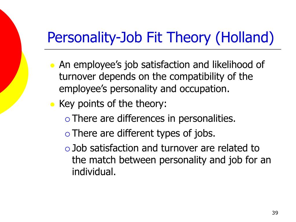 Personality-Job Fit Theory (Holland)