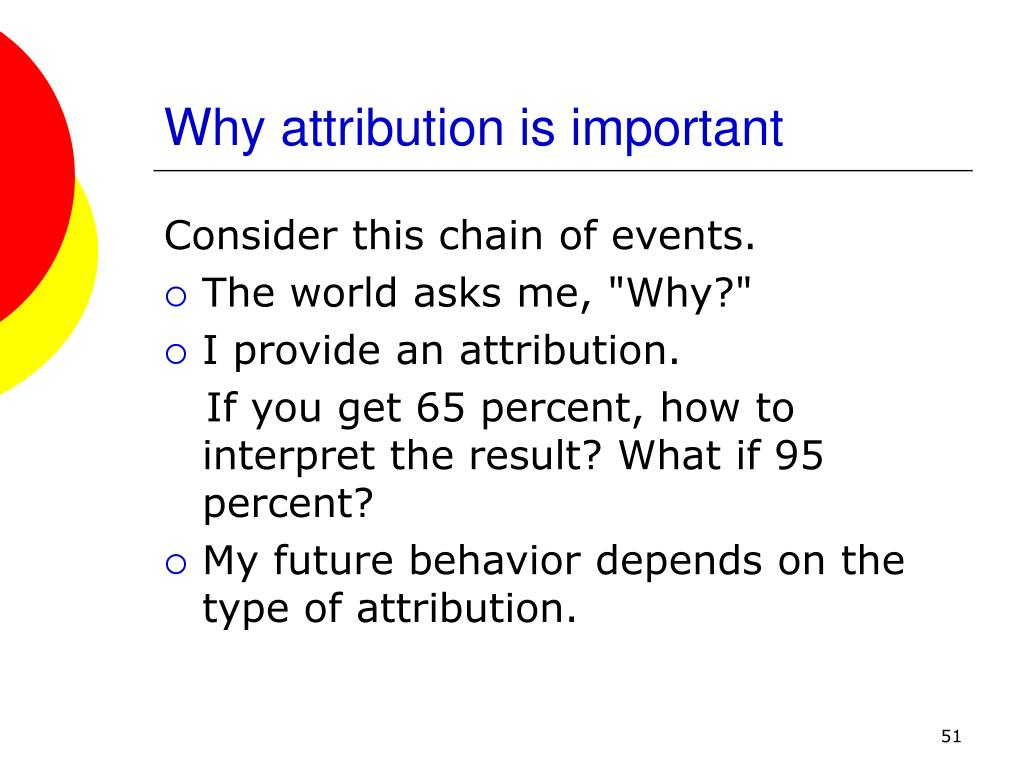 Why attribution is important