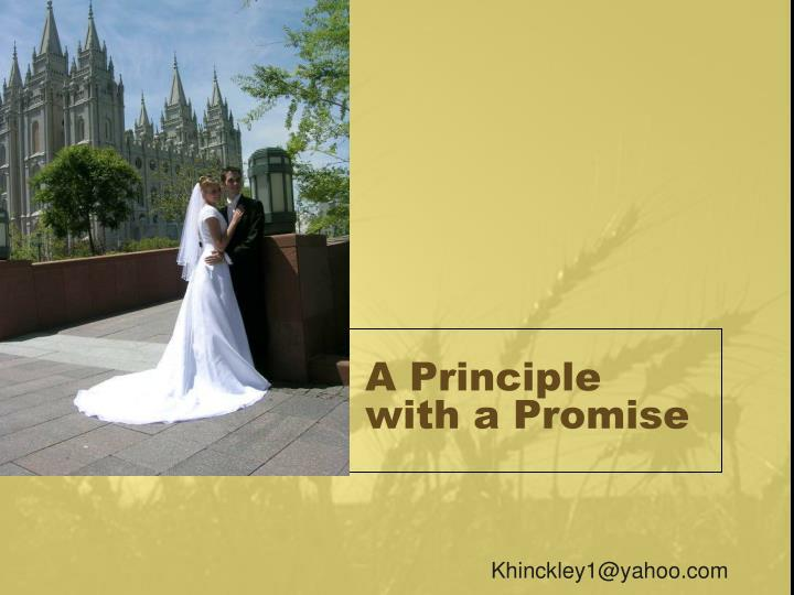 a principle with a promise n.