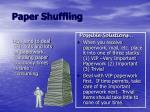 paper shuffling