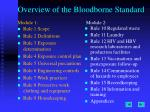 overview of the bloodborne standard