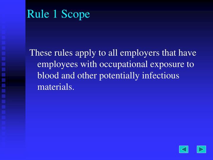 Rule 1 Scope