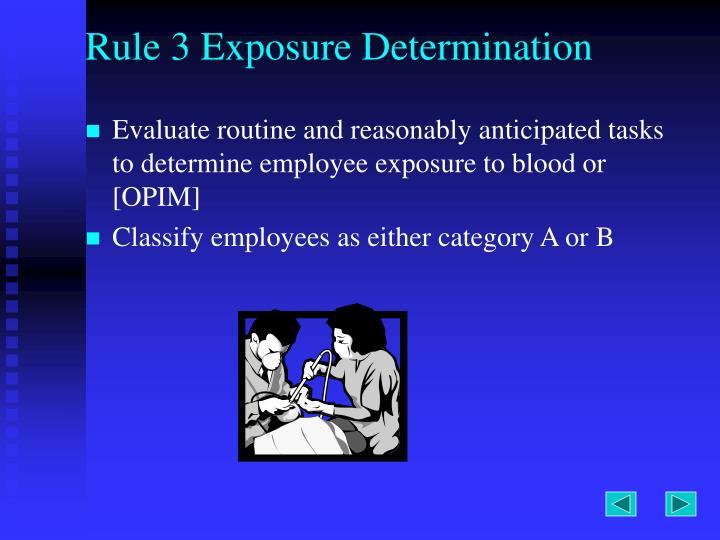 Rule 3 Exposure Determination