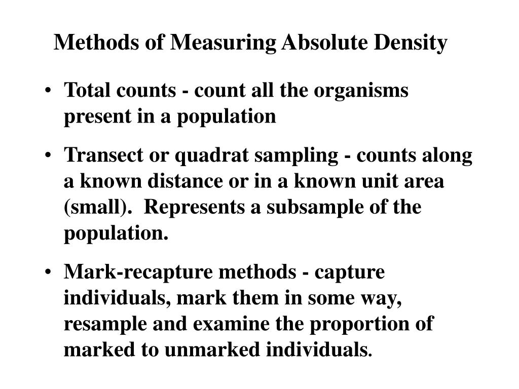 methods of measuring absolute density l.