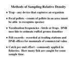 methods of sampling relative density
