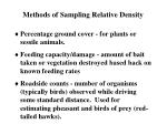 methods of sampling relative density3