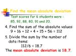 find the mean absolute deviation14