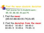 find the mean absolute deviation17