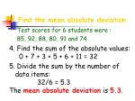 find the mean absolute deviation19