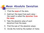 mean absolute deviation11