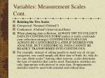 variables measurement scales cont3