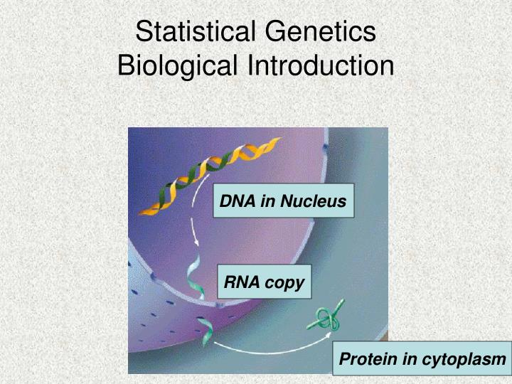 statistical genetics biological introduction n.