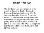 history of iso10