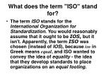 what does the term iso stand for