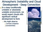 atmospheric instability and cloud development deep convection