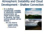 atmospheric instability and cloud development shallow convection