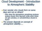 cloud development introduction to atmospheric stability