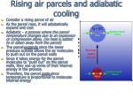 rising air parcels and adiabatic cooling