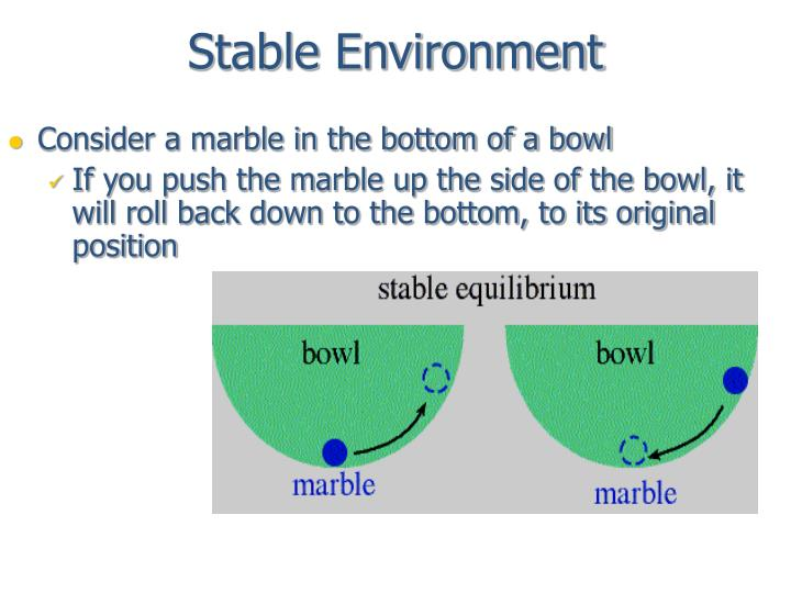Stable environment