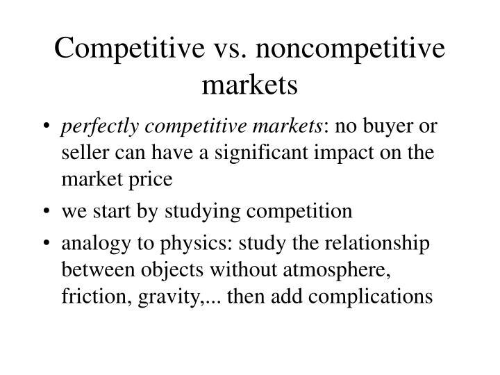 Competitive vs. noncompetitive markets