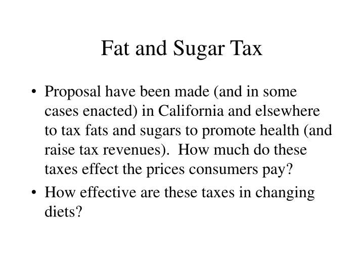 Fat and Sugar Tax