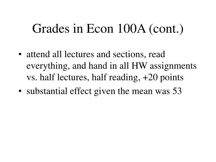 Grades in Econ 100A (cont.)