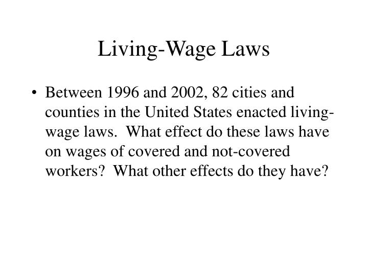 Living-Wage Laws