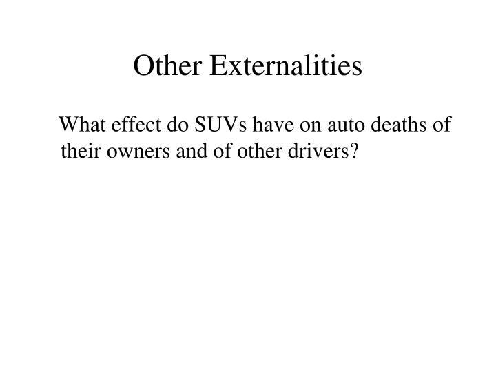 Other Externalities