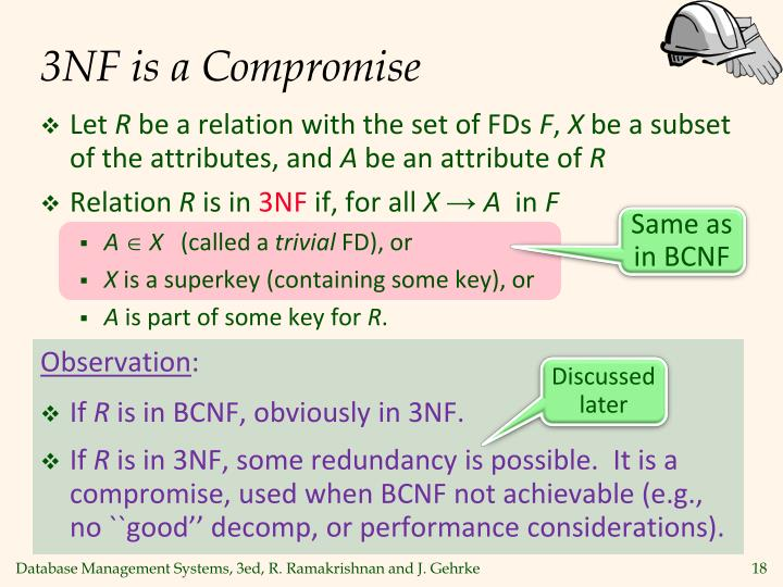 3NF is a Compromise