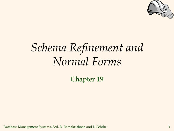 schema refinement and normal forms n.