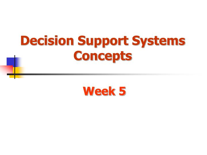 decision support systems concepts n.