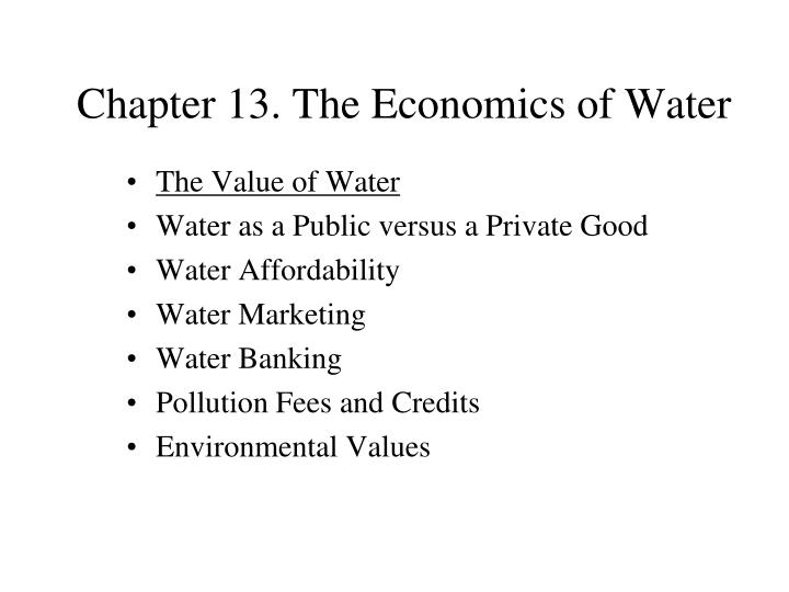 chapter 13 the economics of water n.