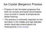 ice crystal bergeron process